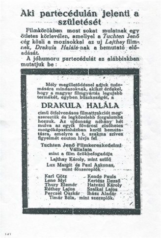 An ad from a trade journal promoting the film.