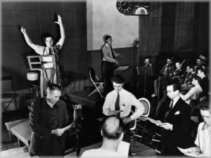 orson welles and the cast of mercury theater on the air